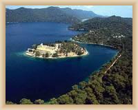 Wyspa Mljet - Klasztor benedyktynów na Wielkim Jeziorze